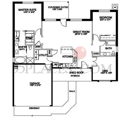1600 Sq Ft Floor Plans by Model 1600 Floorplan 1665 Sq Ft Sunland Springs