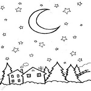 starry coloring page free coloring pages of day and sky