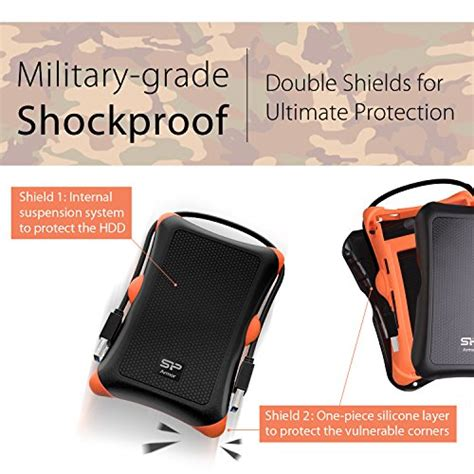 silicon power rugged armor a30 free shipping silicon power 1tb rugged armor a30 grade shockproof usb 3 0 2 5 inch