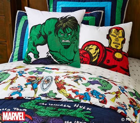 queen size superhero bedding marvel quilted bedding pottery barn kids