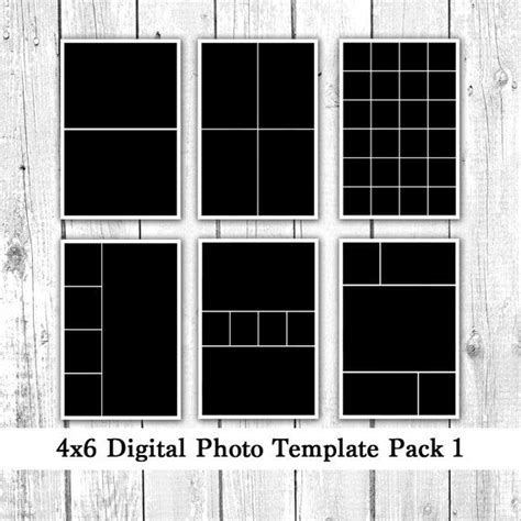 4x6 photo template pack 12 photo card templates photo