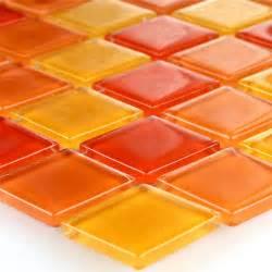 fliese orange klarglasmosaik fliese rot orange gelb 25x25x4mm tm33011m