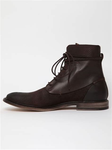 margiela boots mens maison margiela 22 mens waxed suede and leather boot in