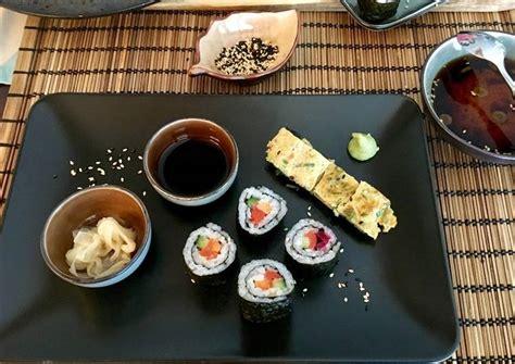 resep sushi isi wortel timun salmon buah naga oleh