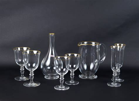 bicchieri baccarat catalogo servizio di bicchieri baccarat 38 pezzi francia xx sec