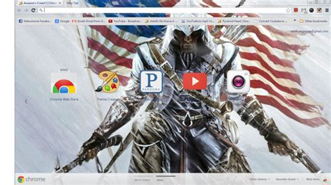 theme chrome assassin s creed assassin s creed 3 chrome theme themebeta