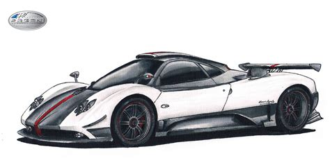 pagani drawing pagani zonda cinque by sl cardesign on deviantart