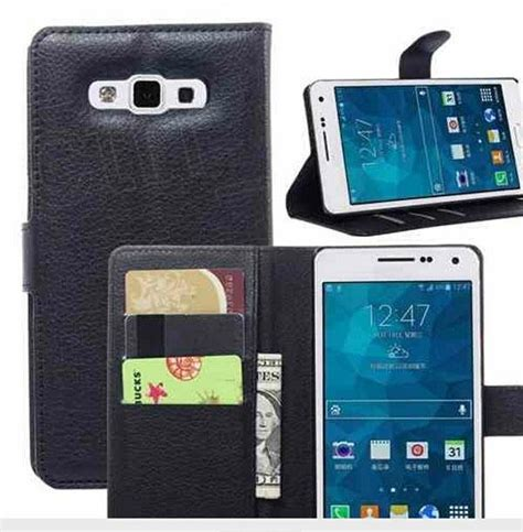 Samsung Galaxy A7 A700 Leather Textured Standing samsung a7 wallet stand flip cover leather samsung galaxy a7 a700
