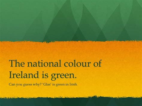 color nation s day 17th of march ireland s national day