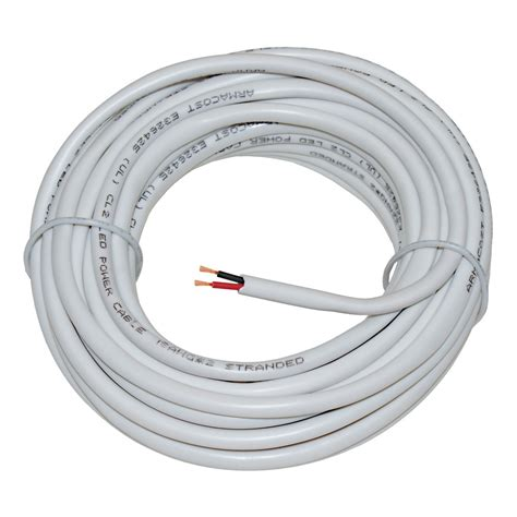 2c white led 18awg in wall power wire armacost lighting