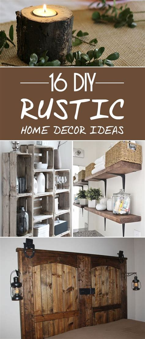 Wildlife Home Decor by 16 Diy Rustic Home Decor Ideas To Make Your Living Space