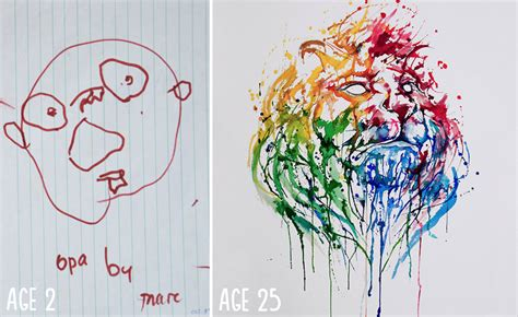Drawing 3 Year by 10 Before And After Drawings Show Practice Makes