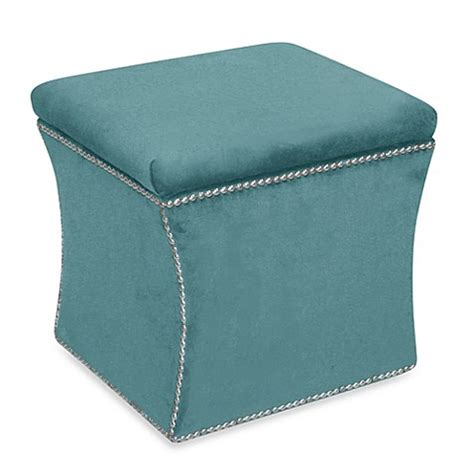 skyline furniture storage ottoman buy skyline furniture nail button storage ottoman in