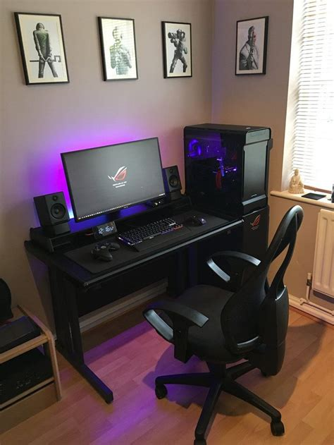 gaming computer desk setup best 25 gaming desk ideas on gaming computer