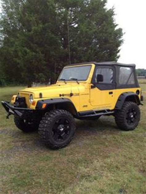 yellow jeep 4 door yellow 2001 jeep tj siiick my future life pinterest