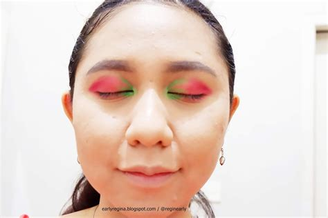 early regina tutorial strawberry colorful fruit makeup
