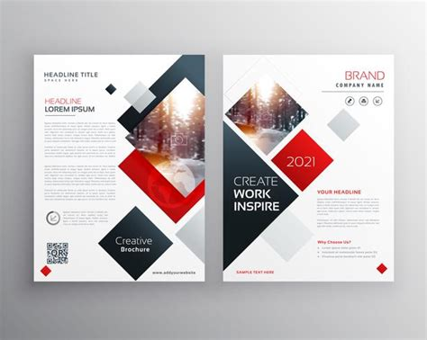 Creative Business Brochure Template Design In Size A4 Download Free Vector Art Stock Graphics Template For Brochure Design Free
