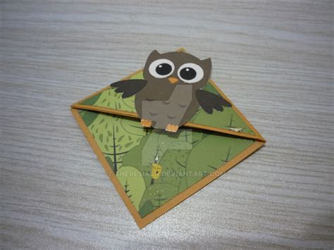 Origami Owl Bookmark - owl corner bookmark by theresiasn on deviantart