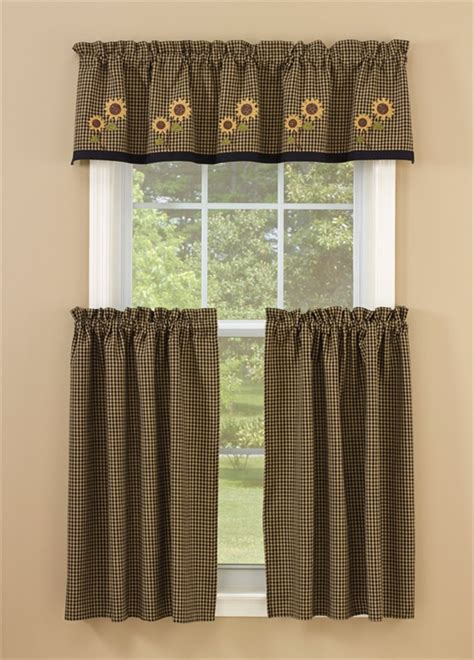 sunflower valance curtains sunflower check lined curtain valance 60 quot x 14 quot fall