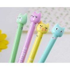 4 Pcs Lovely Cat Gel Pen 0 5mm 4 pcs pack 0 5mm color bow cat gel ink pen