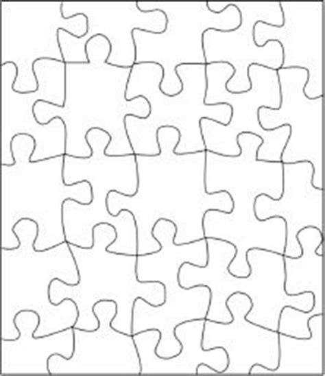 printable jigsaw paper puzzle piece template printable free google search