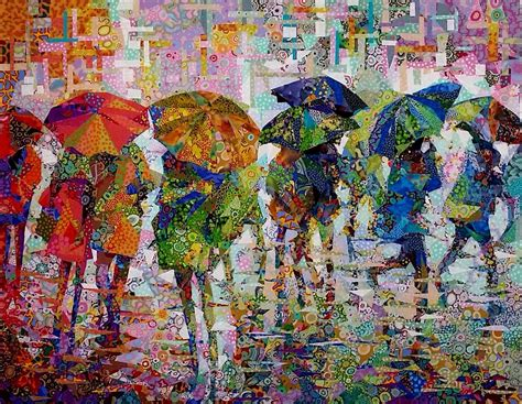 art design quilts rain ii danny amazonas art quilts pinterest rain