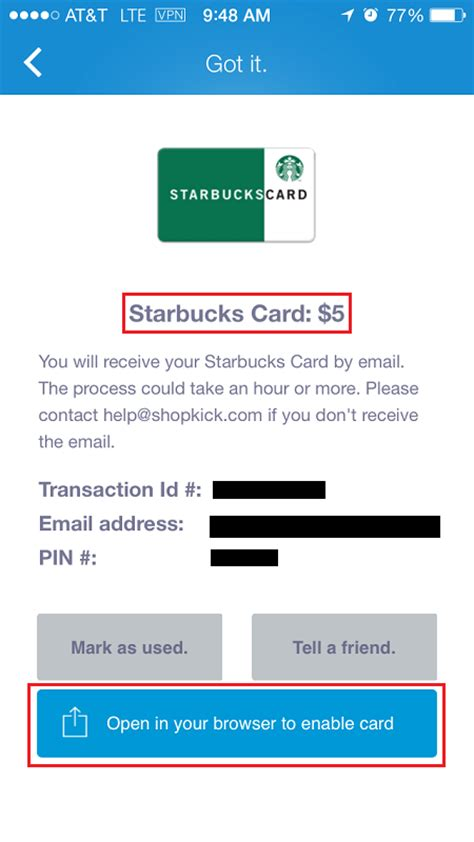 How To Print Shopkick Gift Cards - how to redeem shopkick kicks for a gift card