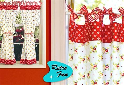 Cherry Kitchen Curtains Curtains Cherry Retro Kitchen