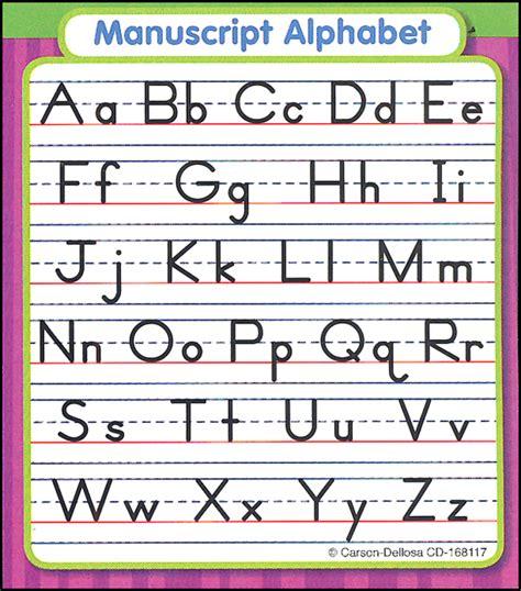 Printable Alphabet Manuscript Chart | manuscript alphabet with arrows images