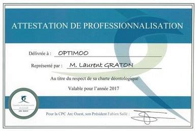 attestation chambre des m騁iers r 233 f 233 rencement optimoo