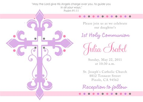 Communion Invitation Templates holy communion invitations holy communion