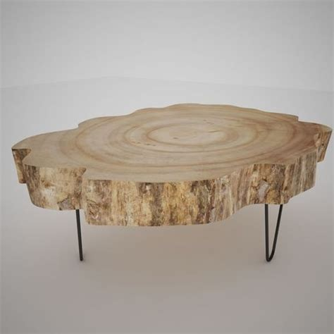 tree slice coffee table wood slice table 3d cgtrader