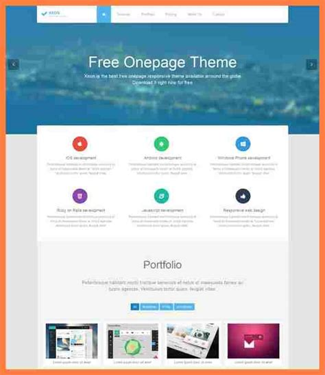 template joomla one page free 8 one page company profile template company letterhead
