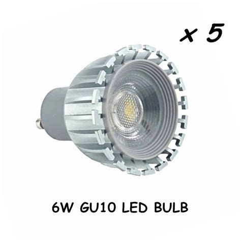 Projie Led 10 Watt gu10 led light bulb with cob led chips equivalent to 50 watt halogen gu10 light bulb for