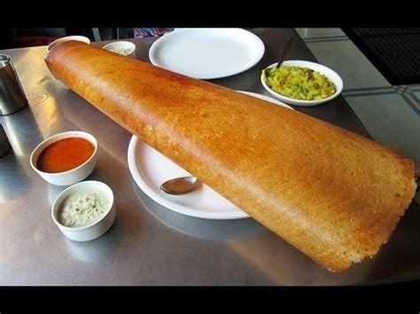How To Make Paper Dosa - paper dosa indian food paper dosa made in an indian