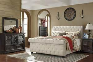 Cal King Bed Set Willenburg Linen Queen Upholstered Sleigh Bed From Ashley