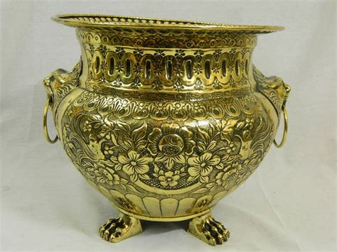 Jardiniere Planter by 19th Century Polished Brass Large Jardiniere Or Planter