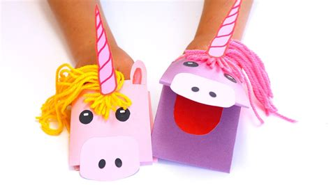 How To Make A Puppet With A Paper Bag - how to make a unicorn paper puppet