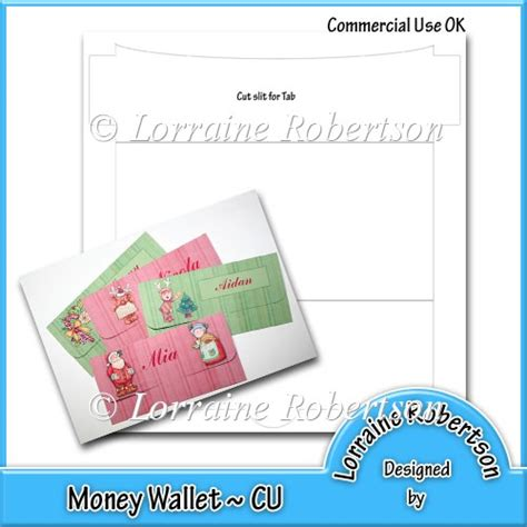 wallet id card template money wallet template 163 2 00 instant card downloads