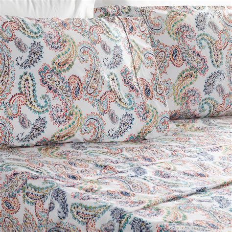 paisley 4 piece sheet set world market