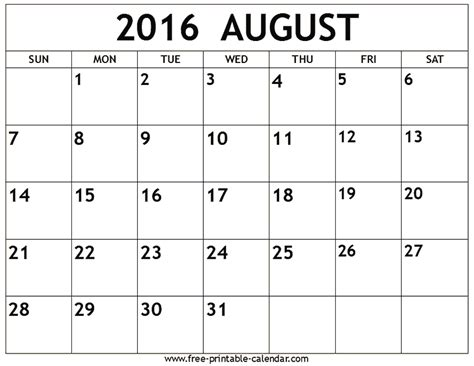 printable calendar 2016 july august september august 2016 calendar