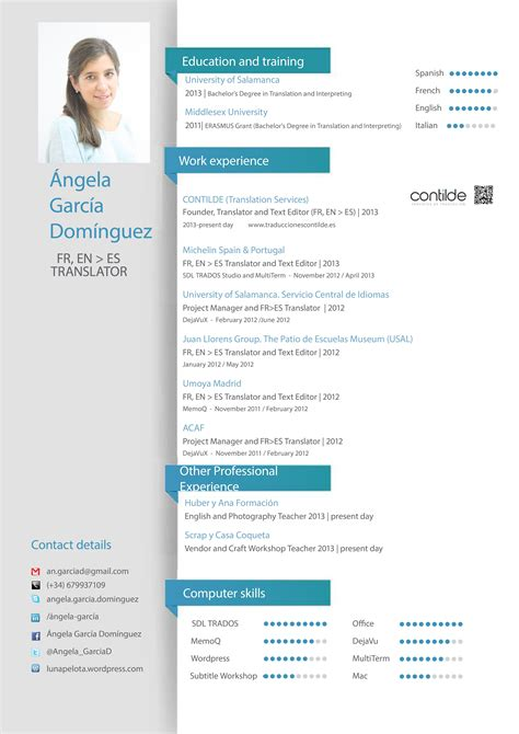 resume skills communication english cv vitae