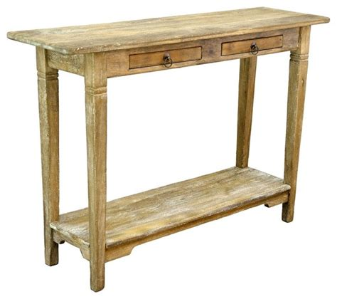 small rustic console table small console table in rustic mango gray wash finish