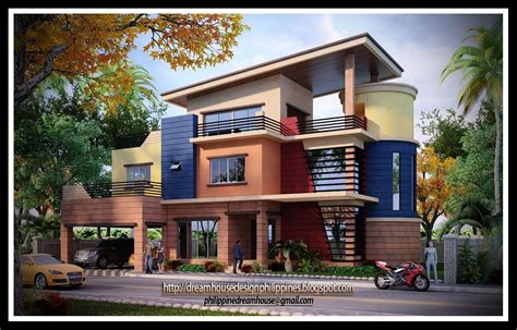 three storey house house design