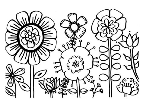 types of flowers coloring pages free printable flower coloring pages for best