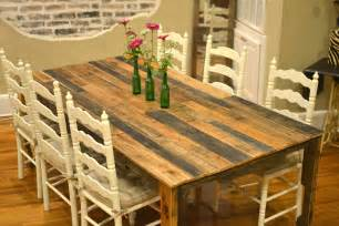 The shipping pallet dining table little paths so startled
