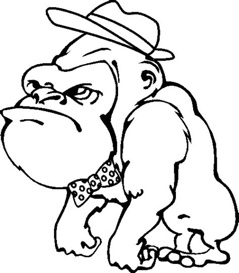 free coloring page of a gorilla gorilla coloring page animals town animals color sheet