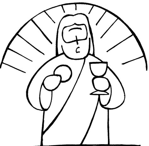 coloring page eucharist chalice and host coloring pages