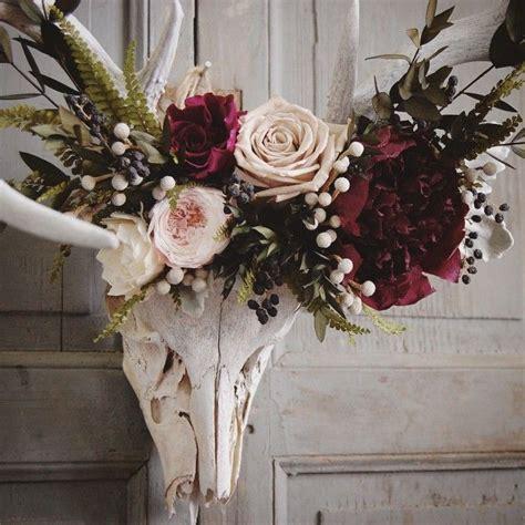 close    preserved floral crown    deer