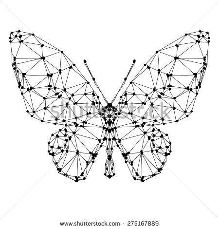 tattoo butterfly geometric geometric butterfly with many triangles tattoo ideas